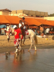 Horseriding on Labadi Beach