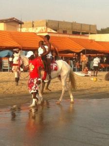 Horseriding on Labadi Beach