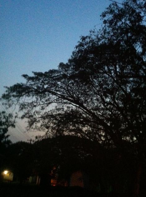Sunset in Konongo
