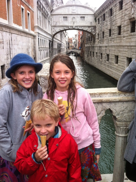 The Bridge of Sighs, and gelato.