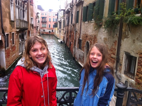 """Can you believe we are actually in Venice!!!"""