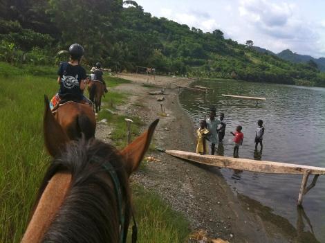 Horseriding at Lake Bosomtwe