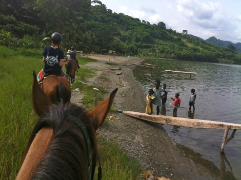 Horseriding at Lake Bosomtwe