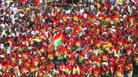 Ghanaian crowd