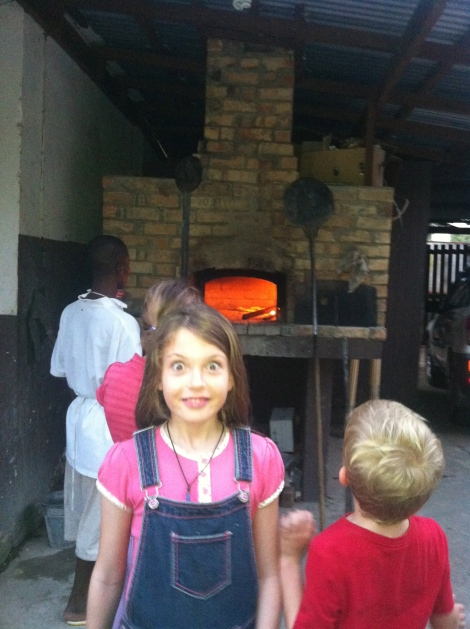A secret gem: a wood fired pizza oven in a backyard!