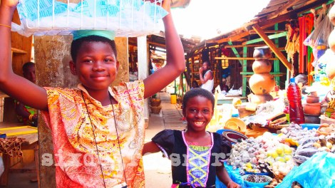 Girls at Market