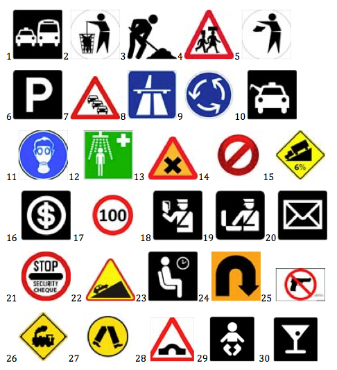 Ghanaian Road Signs Simplified Six Degrees North