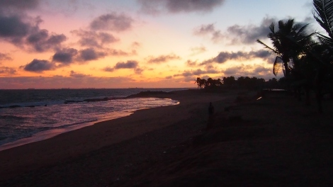 Beach sunset in Lome, Togo