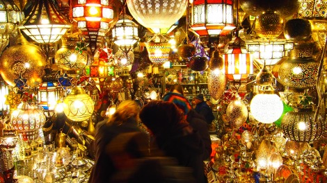 Shopping in Marrakech souk.